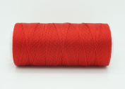 RED 0.6mm 100% Nylon Twisted Cord Thread Micro Macrame Beading Knitting Crochet Needle Crafts