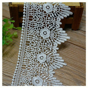 White 3 Yard Hollowed Rayon Lace Trim Dress Lace Craft Lace Sewing Lace 10cm Wide