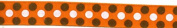 Grosgrain Brown Ribbon Orange Coloured Dots