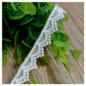 White 5 Yards Retro Cotton Ribbon Lace Trim Dress Lace Sewing Collar Lace 1.3cm Wide