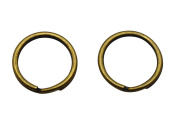 Amanaote Bronze 1.5cm Outsize Diameter Curved Surface Key Ring Keychain Jump Ring Pack of 50