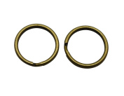 Amanaote Bronze 2cm Outsize Diameter Curved Surface Key Ring Keychain Jump Ring Pack of 50