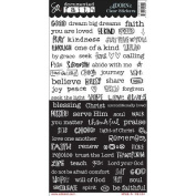 Documented Faith Clear Stickers 15cm x 30cm -Word Strip