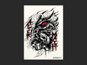 Aftermath -  Tattoo Sticker - Red Eye Beast