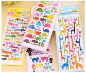 Cartoon 3D Animal Scrapbook Decoration Sticker / Label - Elephant