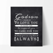 Godson Nursery Art Print, Perfect Christening/Baptism Gift for Godson from Godparents