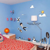 Balloons Train Wall Decal PVC Home Sticker House Vinyl Paper Decoration WallPaper Living Room Bedroom Kitchen Art Picture DIY Murals Girls Boys kids Nursery Baby Playroom Decor