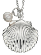 My-jewellery 925 silver shell and pearl necklace 50cm - 130cm