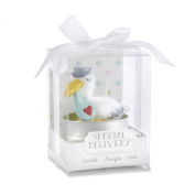 Kate Aspen Set of 4 Special Delivery Stork Candle