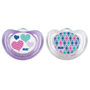 NUK Airflow Orthodontic Pacifier with Hearts Design, 6-18 Months