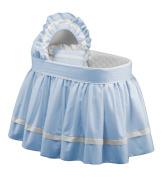 Baby Doll Regal Pique Bassinet Set, Blue
