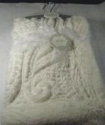 Kyle & Deena Soft Plush Baby Blanket Cream 80cm x 80cm 100% Polyester