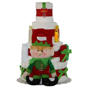 Baby Christmas Celebration Nappy Cake 4 Tiers