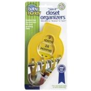 Baby Buddy Size-It Children/Baby Hanging Closet Organiser Dividers, Yellow