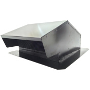 "BUILDERS BEST 012634 Black Metal Roof Vent Cap (15cm ""-20cm "" (8.3cm "" x 25cm "") Universal Flush) Home, garden & living"