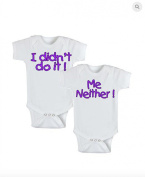 Twins Infant One Piece Bodysuit - Didn't Do It, Me Neither