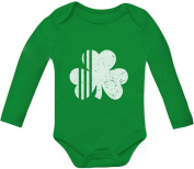 TeeStars - Cute Irish Shamrock St. Patrick's Day Clover Baby Long Sleeve Onesie