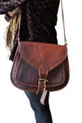 Phoenix Craft Women's Leather Purse Gypsy Bag Crossbody Women Handbag Shoulder Travel Satchel Tote Bag 14x10x4 Inhes Brown