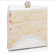 Kate Spade Magnolia Bakery Slice of Cake Leather Shoulder Bag Handbag Clutch