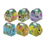 12 x Childrens Cardboard Lunch/Party Boxes Jungle Design