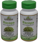 Bacopa Extract 750 mg (60% Bacopa Saponins (Bacosides A & B) - 362.2 mg) Highest Potency and Purity on the Market - 60 Veg Capsules for Memory Support