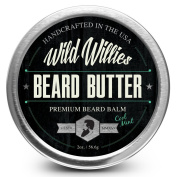 Beard Balm Conditioner For Men -Wild Willie's Beard Butter-Amazing Beard Balm with 13 Natural Locally Sourced Ingredients to Condition and Treat Your Beard or Moustache At the Same Time. Cool Mint 60ml