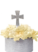 Unik Occasions Crystal Rhinestone Cake Topper - Silver Cross