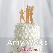 Wedding Cake Topper - Couple with baby and teen girl - AW1064W