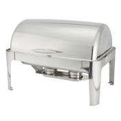 Madison Chafer 601 - 7.6l Full Size Stainless Steel Roll Top Cover Winco, SET OF 6