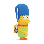 Tribe FD003403 The Simpsons Springfield Pendrive Figure 8 GB Funny USB Flash Drive 2.0 Memory Stick Data Storage, Keyholder Key Ring, Marge Simpson, Yellow