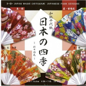 Japanese Washi/Chiyo 4-Season Origami,28 sheets.