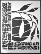 23cm x 30cm Verdant Moon Stencil by Carol Wiebe