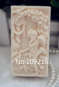Creativemoldstore 1pcs Angel with Birds(ZX109) Craft Art Silicone Soap Mould Craft Moulds DIY Handmade Soap Mould