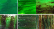 Wissmach Deep Forest Green Stained Glass Pack