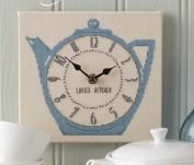 Tea Pot Clock Counted Cross Stitch,dmc Thread ,14ct Suzuki Clock Cross Stitch Kits