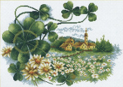 Cross stitch embroidery kit Scenery Clover-100106