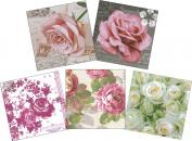 Djanti decoupage paper napkins colour & pattern Random 15-sheet set (5 handle each of the three pieces) Rose CL-NC35