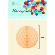 Honeycomb ball 10cm ivory