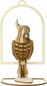 Wooden Art KI-GU-MI parakeet