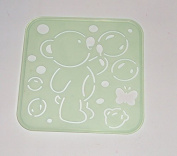 Tupperware Stencil Art Replacement Tiwi Bear Butterfly Blowing Bubbles #4661