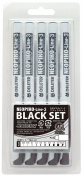 Derita Neopiko line -3 black set of 10