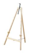 Wooden easel M size / wide natural wood grain