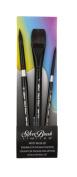 Silver Brush black Velvet 3Pc Basic Watercolour Brush Set