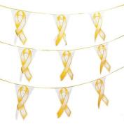 Gold Ribbon Pennant Banner
