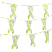Lime Green Ribbon Pennant Banner