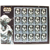 Star Wars Yoda Collectible Sheet of 20 41 Cent Stamps Scott 4205