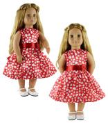 HongShun Doll Clothes for 46cm American girl Handmade Princess dress