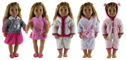 HongShun 5 Set Doll Clothes for 46cm American girl Handmade Lovely Clothes