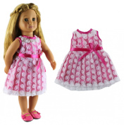 HongShun Doll Clothes for 46cm American girl Lovely Beautiful Princess dress