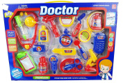 19 Pieces Colourful Doctor Medical Kit Playset for Kids - Pretend Play Tools Toy Set